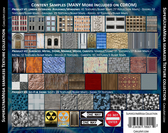CarlsArt com Extreme Texture Resources, Seamless Textures for 3d